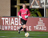 20140606 - Koksijde , BELGIUM : Brugge's Jana Van Hauwaert pictured during the soccer match between the women teams of Club Brugge Vrouwen  and FC Twente Vrouwen  , on the 30th matchday of the BeNeleague competition on Friday 6th June 2014 in Koksijde .  PHOTO DAVID CATRY