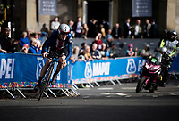 Michael Garrison (USA) underway during the Men Junior Individual Time Trial<br /> <br /> 2019 Road World Championships Yorkshire (GBR)<br /> <br /> ©kramon