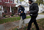 CORNELIUS, NC - NOVEMBER 1:  Campaign volunteers Ed Palmer, left, and Don Griffin canvass a neighborhood in Cornelius, NC, for North Carolina Democratic incumbent for U.S. Senate Kay Hagan on Saturday, November 1, 2014.  (Photo by Ted Richardson/For The Washington Post)