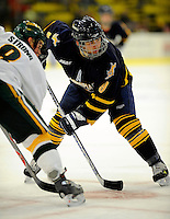 30 December 2007: Quinnipiac University Bobcats' forward Brandon Wong, a Sophomore from Victoria, B.C., in action against the University of Vermont Catamounts at Gutterson Fieldhouse in Burlington, Vermont. The Bobcats defeated the Catamounts 4-1 to win the Sheraton/TD Banknorth Catamount Cup Tournament...Mandatory Photo Credit: Ed Wolfstein Photo