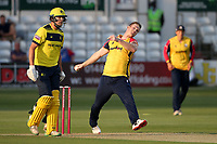 Jimmy Neesham in bowling action for Essex during Essex Eagles vs Hampshire Hawks, Vitality Blast T20 Cricket at The Cloudfm County Ground on 11th June 2021