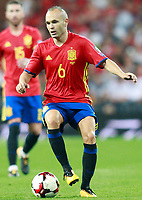 Spain's Andres Iniesta during FIFA World Cup 2018 Qualifying Round match. September 2,2017.(ALTERPHOTOS/Acero)