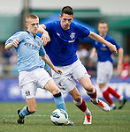 Manchester City plays Rangers during the HKFC Citibank International Soccer Sevens at the Hong Kong Football Club on 26 May 2013 in Hong Kong, China. Photo by Victor Fraile / The Power of Sport Images