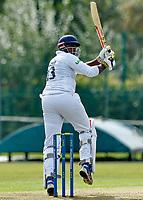 21st September 2021; Aigburth, Merseyside, England; County Championship Cricket, Lancashire versus Hampshire, Day 1; Keith Barker of Hampshire pulls through the slips