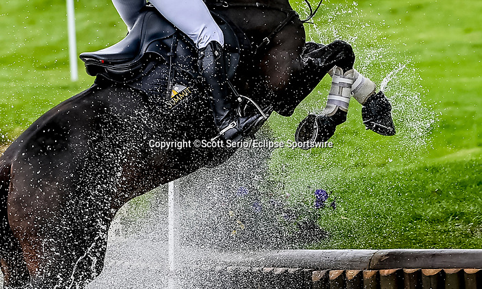April 24, 2021: Marilyn Little competes in the Cross Country phase of the Land Rover 5* 3-Day Event aboard RF Scandalous at the Kentucky Horse Park in Lexington, Kentucky. Scott Serio/Eclipse Sportswire/CSM