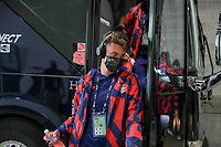 KANSAS CITY, KS - JULY 15: James Sands #16 of the United States arriving at the stadium before a game between Martinique and USMNT at Children's Mercy Park on July 15, 2021 in Kansas City, Kansas.