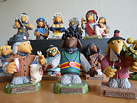 BNPS.co.uk (01202 558833)<br /> Pic: GillSeyfang/BNPS<br /> <br /> Womble figurines from 1999.<br /> <br /> An environmentalist is selling the world's biggest Womble collection after the famous furry creatures inspired her to save the planet as a child.<br /> <br /> Gill Seyfang, a senior lecturer in Sustainable Consumption at the University of East Anglia, owns over 1,700 items relating the furry creatures.<br /> <br /> Her vast collection ranges from soft toys to rubbish bins and was recognised by the Guinness Book of Records in 2016.<br /> <br /> Ms Seyfang, from Norwich, Norfolk, began amassing the group in the 1970s and it has continued to grow ever since.