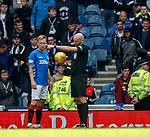 05.05.2019 Rangers v Hibs: Bobby Madden drop ball