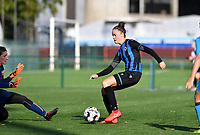 Brugge's Charlotte Laridon pictured in action during a female soccer game between the women teams of Club Brugge YLA Dames and Union Saint-Ghislain Tertre-Hautrage Ladies on the 1/16 th qualifying round for the Belgian Womens Cup 2020  2021 , on saturday 26 th of September 2020  in Brugge , Belgium . PHOTO SPORTPIX.BE | SPP | DAVID CATRY