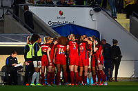 Gothenburg, Sweden - Thursday June 08, 2017: United States huddle during an international friendly match between the women's national teams of Sweden (SWE) and the United States (USA) at Gamla Ullevi Stadium.