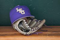 LSU Tigers baseball hat on June 18, 2015 at TD Ameritrade Park in Omaha, Nebraska. (Andrew Woolley/Four Seam Images)