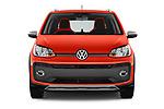 Car photography straight front view of a 2018 Volkswagen Up Cross Up 5 Door Hatchback