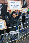 © Joel Goodman - 07973 332324 - all rights reserved . 11/11/2010 . London , UK . Siddhartha Dhar (centre). Muslims Against Crusades hold a demonstration and burn a poppy on the anniversary of Armistice Day , at Kensington Gore , opposed by a demonstration of nationalist groups including the English Defence League ( EDL ) . Photo credit : Joel Goodman