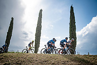 """over the final gravel sector of the day.<br /> <br /> 104th Giro d'Italia 2021 (2.UWT)<br /> Stage 11 from Perugia to Montalcino (162km)<br /> """"the Strade Bianche stage""""<br /> <br /> ©kramon"""