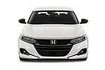 Car photography straight front view of a 2021 Honda Accord-Sedan Sport-SE 4 Door Sedan Front View