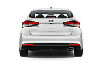 Straight rear view of 2018 KIA Forte EX-AT 4 Door Sedan Rear View  stock images