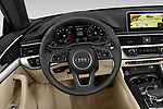 Car pictures of steering wheel view of a 2018 Audi A5 Design 2 Door Convertible Steering Wheel