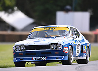 9th July 2021;  Goodwood  House, Chichester, England; Goodwood Festival of Speed; Day Two; Andrew Dance drives a 1972 ford Capri RS2600 in the Goodwood Hill Climb