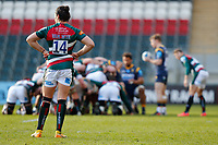 6th February 2021; Mattoli Woods Welford Road Stadium, Leicester, Midlands, England; Premiership Rugby, Leicester Tigers versus Worcester Warriors; Kobus van Wyk of Leicester Tigers waits for a scrum o set