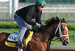 28 April 10: Discreetly Mine works out at Churchill Downs in Louisville, Kentucky