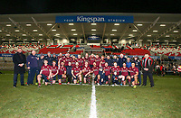 Tuesday 7th January 2020 | MMW Junior Cup Final<br /> <br /> Enniskillen captain Gareth Beatty and his team celebrate winning the Millar McCall Wylie Junior Cup after his side defeated Armagh 2s in the final at Kingspan Stadium, Belfast. Photo by John Dickson / DICKSONDIGITAL