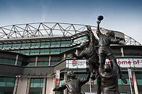 Players statue outside Twickenham Stadium during the RBS 6 Nations match between England and Scotland on Saturday 11th March 2017 (Photo by Rob Munro/Stewart Communications)