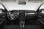 Stock photo of straight dashboard view of a 2019 Suzuki Vitara Grand Luxe Xtra 5 Door SUV