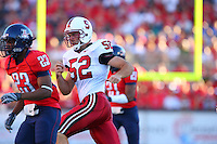 20 October 2007: Stanford Cardinal Brent Newhouse during Stanford's 21-20 win against the Arizona Wildcats at Arizona Stadium in Tucson, AZ.