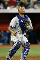 May 23rd 2008:  Catcher Miguel Olivo (21) of the Kansas City Royals during a game at the Rogers Centre in Toronto, Ontario, Canada .  Photo by:  Mike Janes/Four Seam Images