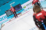 Sochi, RUSSIA - Mar 7 2014 -  Joe Rea Head Coach of Canada's Wheelchair Curling Team trains before the Sochi 2014 Paralympic Winter Games in Sochi, Russia.  (Photo: Matthew Murnaghan/Canadian Paralympic Committee)