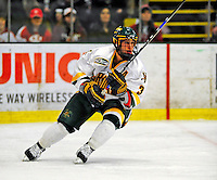 3 January 2009: University of Vermont Catamount forward Peter Lenes, a Senior from Shelburne, VT, in action against the St. Lawrence Saints during the championship game of the Catamount Cup Ice Hockey Tournament at Gutterson Fieldhouse in Burlington, Vermont. The Cats defeated the Saints 4-0 and won the tournament for the second time since its inception in 2005...Mandatory Photo Credit: Ed Wolfstein Photo