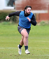 16th February 2021;  Tom O'Toole during an Ulster Rugby squad pitch session held at Pirrie Park, Belfast, Northern Ireland. Photo by John Dickson/Dicksondigital