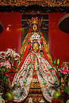 Kwun Yum (Front) and Dipankara, the Buddha of the past (rear) in the Litt Shing Kung Temple.