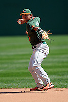 University of Miami Hurricanes infielder Alexander Hernandez #7 prior to a game versus the Boston College Eagles at Shea Field in Chestnut Hill, Massachusetts on April 26, 2013.  (Ken Babbitt/Four Seam Images)