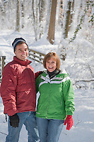 Couple, Winter Forest, Lumberton, New Jersey
