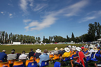 General view of play as spectators look on at Castle Park during Day Three