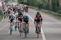Thomas de Gendt (BEL/Lotto-Soudal) setting the pace (per usual)<br /> <br /> 77th Euro Metropole Tour 2017<br /> La Louvière > Tournai (BEL): 188.6 km