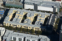 aerial photograph multifamily residential apartment complex near City Hall San Jose, San Clara county, California
