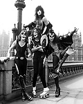 Kiss 1976 Peter Criss, Paul Stanley, Ace Frehley and Gene Simmons in London<br /> <br /> © Chris Walter