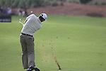 Padaig Harrington plays his 2nd shot on the 8th hole during  Day 2 at the Dubai World Championship Golf in Jumeirah, Earth Course, Golf Estates, Dubai  UAE, 20th November 2009 (Photo by Eoin Clarke/GOLFFILE)