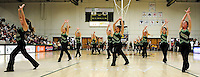 5 December 2009: The UVM Dance Team entertain the fans at a game between the University of Vermont Catamounts and the Manhattan College Jaspers at Patrick Gymnasium in Burlington, Vermont. The Catamounts defeated the visiting Jaspers 78-59 to mark the Lady Cats' second home win of the season. Mandatory Credit: Ed Wolfstein Photo