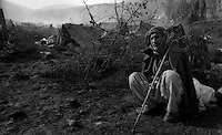 Cukurca - Kurdistan - Turkish Iraqi border - April 1991.Consequences of Gulf War. Thousands of ethnic kurds fled Iraq becouse of fightings between Saddam Hussein and NATO troops..In the picture one old peshmerga. Because of the cold and the few humanitarian aid, the escape of the Kurds in the mountains on the border between Iraq, Turkey and Iran turned into a humanitarian tragedy..Photo Livio Senigalliesi