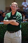 Elliot Walden of WinStar Farm watching Gemologist in the walking ring at Gulfstream Park. Hallandale Beach, Florida. 03-16-2012