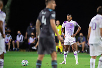 LAKE BUENA VISTA, FL - AUGUST 06: Nani #17 of Orlando City SC waiting for the free kick during a game between Orlando City SC and Minnesota United FC at ESPN Wide World of Sports on August 06, 2020 in Lake Buena Vista, Florida.