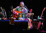 Neil Young during his acoustic set in concert at the Nokia Theatre in Los Angeles Tuesday October 30, 2007.
