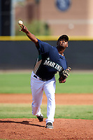 Seattle Mariners minor league pitcher Neritzon Osorio #66 during an instructional league game against the San Diego Padres at the Peoria Sports Complex on October 6, 2012 in Peoria, Arizona.  (Mike Janes/Four Seam Images)