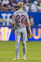 United States' goalkeeper William Yarbrough (22) looks on as an international friendly nears end at the Alamodome, Wednesday, April 15, 2015 in San Antonio, Tex. USA defeated Mexico 2-0. (Mo Khursheed/TFV Media via AP Images)
