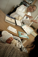 Our photographer in Chile, Lorenzo Moscia, registered the birth of his son Gabriel Antonio in Santiago April 18th.In the pictures are his wife, Colette, the newborn Gabriel Antonio, and Lorenzo himself.