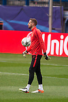 Atletico de Madrid's player Jan Oblak during the practice session the day before the EUFA Champions League match between Atletico de Madrid and FC. Barcelona at Vicente Calderon in Madrid. April 13, 2016. (ALTERPHOTOS/Borja B.Hojas)