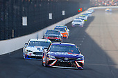 Monster Energy NASCAR Cup Series<br /> Brickyard 400<br /> Indianapolis Motor Speedway, Indianapolis, IN USA<br /> Sunday 23 July 2017<br /> Denny Hamlin, Joe Gibbs Racing, FedEx Cares Toyota Camry and Clint Bowyer, Stewart-Haas Racing, Mobil 1/Rush Truck Centers Ford Fusion<br /> World Copyright: Russell LaBounty<br /> LAT Images